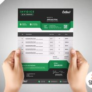Payment Invoice Template Design PSD