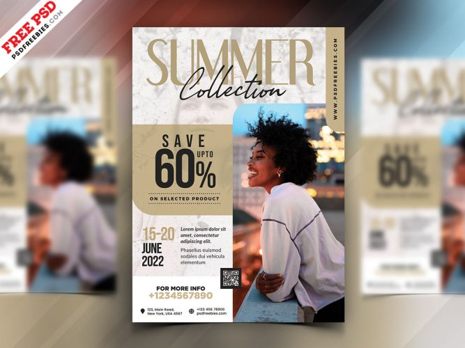 Season Sale Flyer Design Template