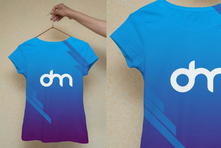 Woman T-Shirt Design Mockup Template
