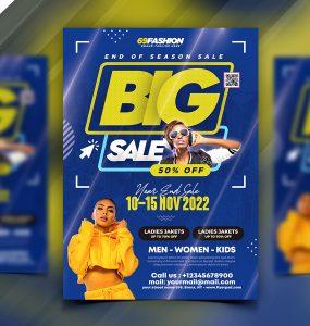 Big Fashion Sale Flyer Design Template