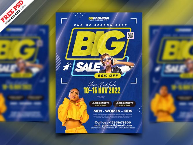 Big Fashion Sale Flyer Design Template
