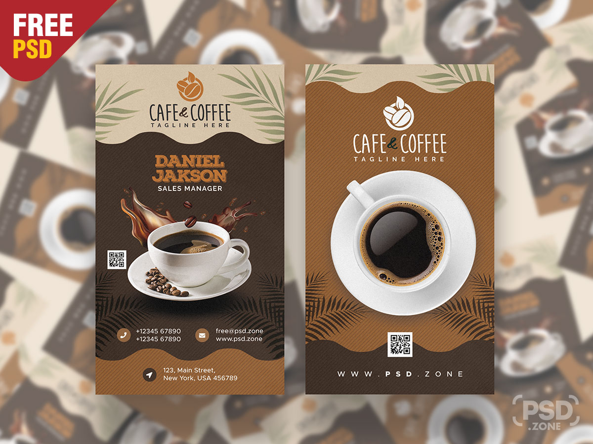 Coffee Shop Business Card Template – Download PSD With Coffee Business Card Template Free