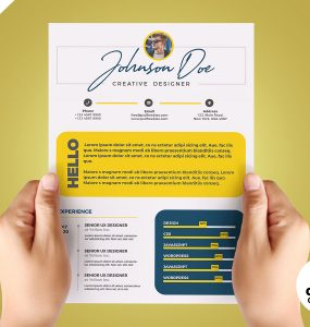 Cool Resume CV Design Template PSD
