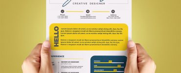 Cool Resume CV Design Template PSD
