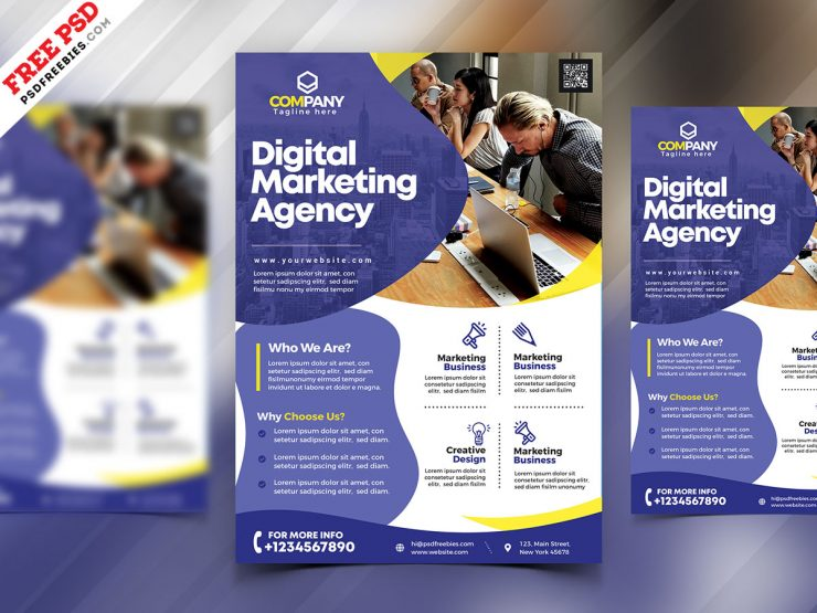 Digital Marketing Agency Flyer Template PSD