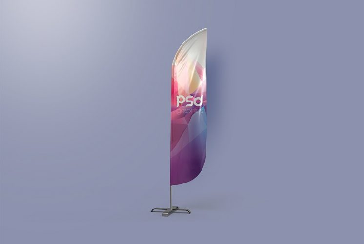 Feather Flag Banner Mockup Template