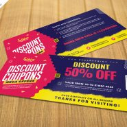 Free Discount Coupon Template PSD