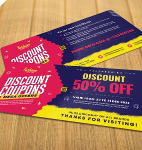 Free Discount Coupons Template PSD