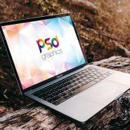 Macbook Pro Outdoor Mockup Template
