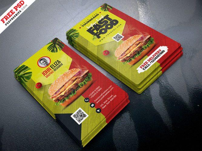 Restaurant Creative Business Card Design Template