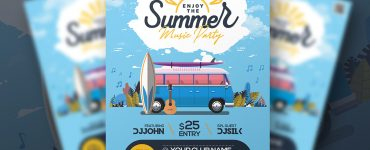Summer Music Festival Flyer Template