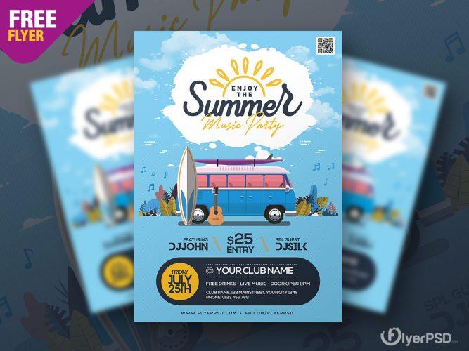 Summer Music Festival Flyer Template