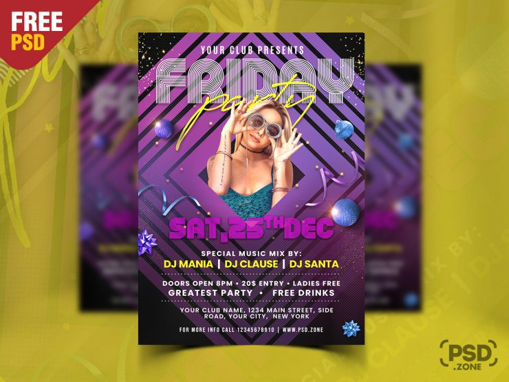 Friday Night Music Party Flyer Template