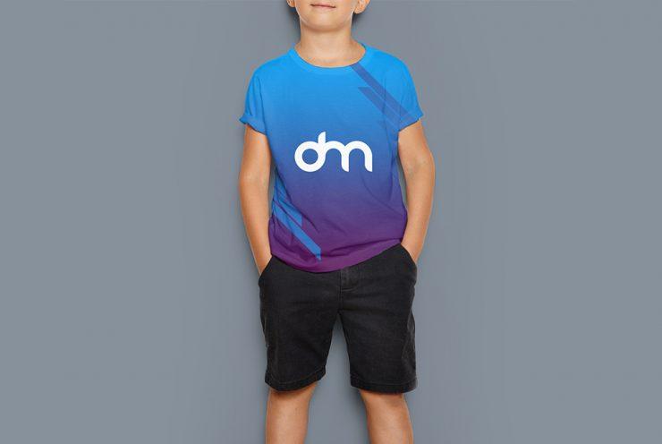 Kids T-Shirt Design Mockup Template