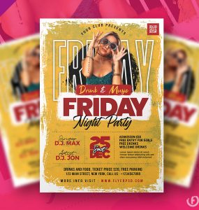 Ladies Friday Party Flyer Design Template