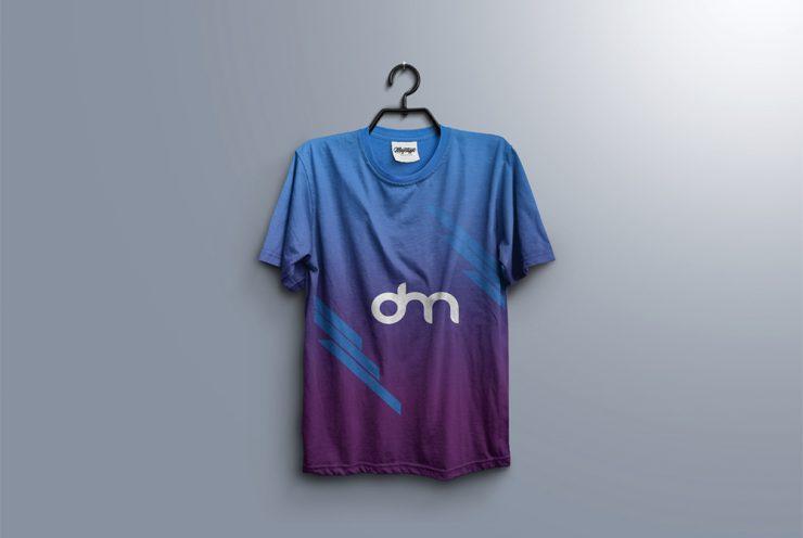 T-Shirt on Hanger Mockup PSD