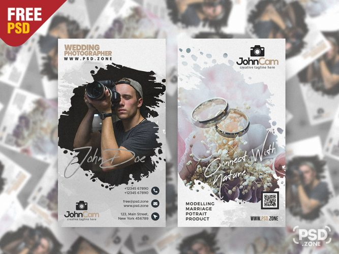 Wedding Photography Business Card Design Template