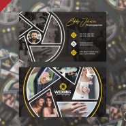 Creative Wedding Photographer Business Card Template