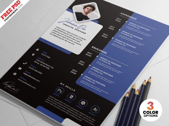 Designer Resume CV Design Template