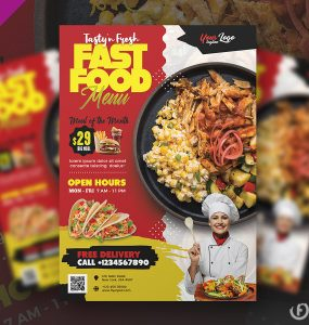 Fast Food Restaurant Flyer Design Template