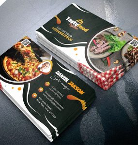 Food Restaurant Business Card Design Template