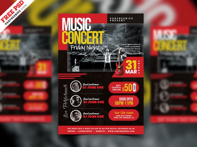 Live Music Concert Event Flyer Template