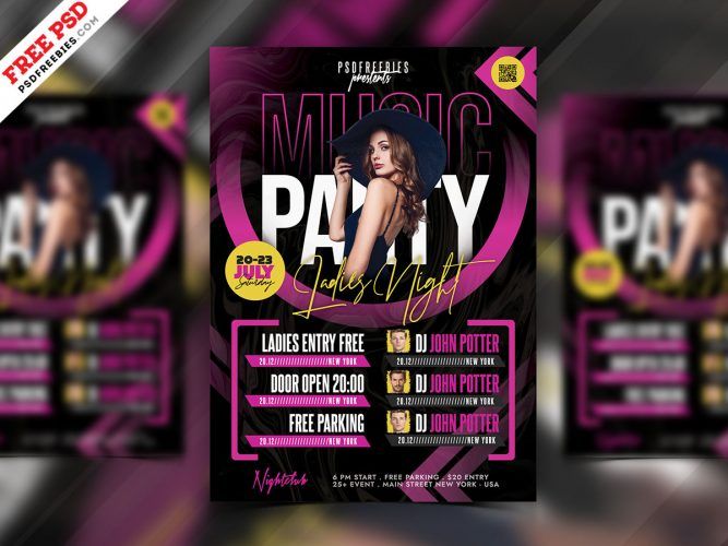 Music Party Flyer Design Template