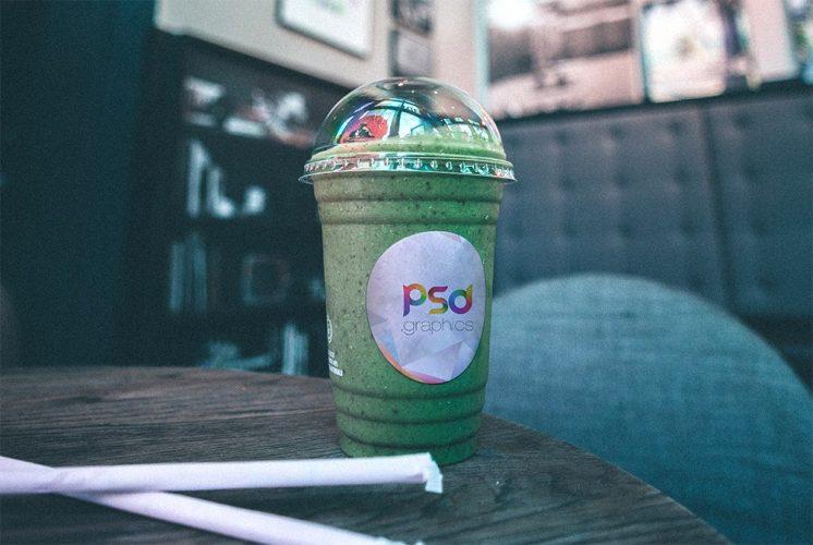 Transparent Plastic Cup Mockup Template