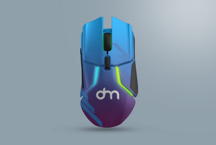 Gaming Mouse Branding Mockup Template