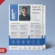 A4 Size Designer Resume Template PSD
