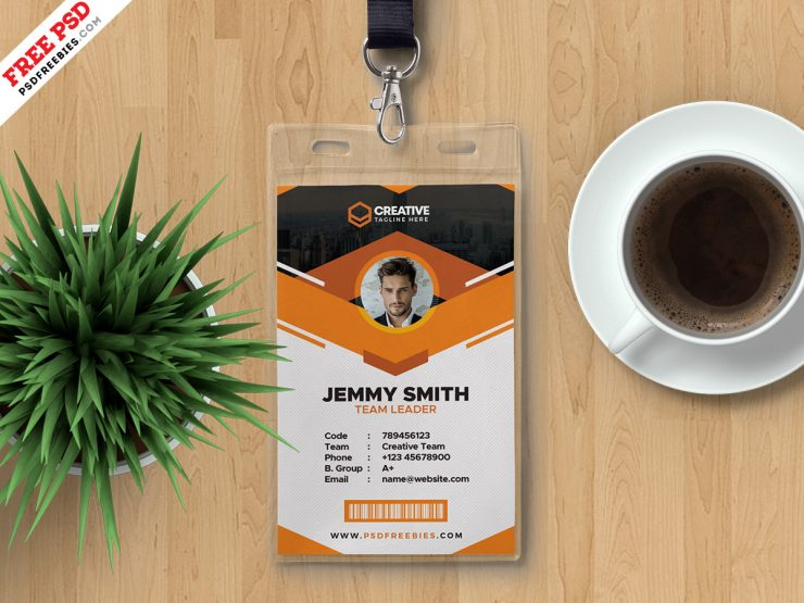Clean and Corporate ID Card Template Design