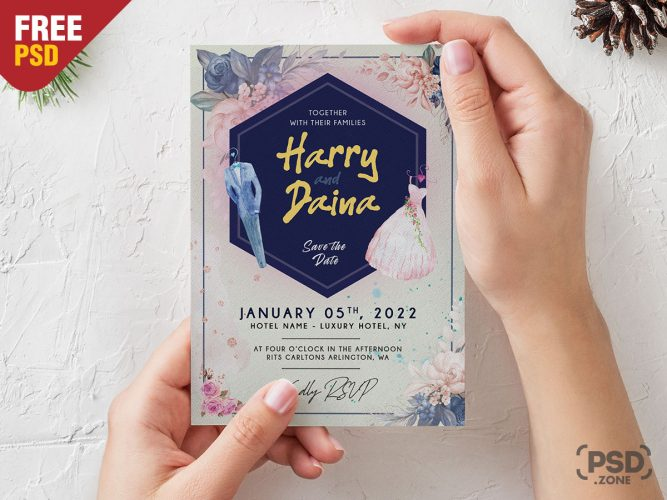 Free Wedding Invitation Card Design Template
