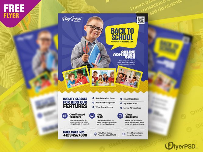 Kids School Flyer Template