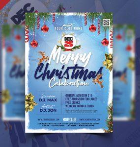 Beautiful Christmas Flyer Template PSD