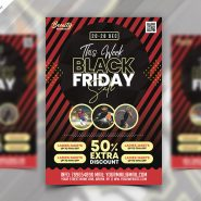Black Friday Sale Flyer Design PSD Template