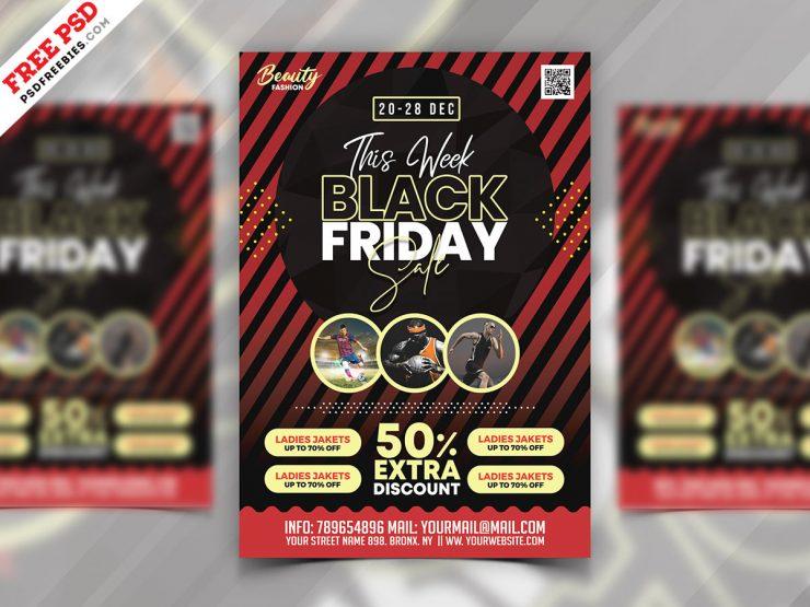Black Friday Sale Flyer Design PSD Template