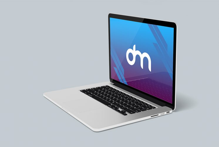 Free MacBook Pro Mockup PSD Template
