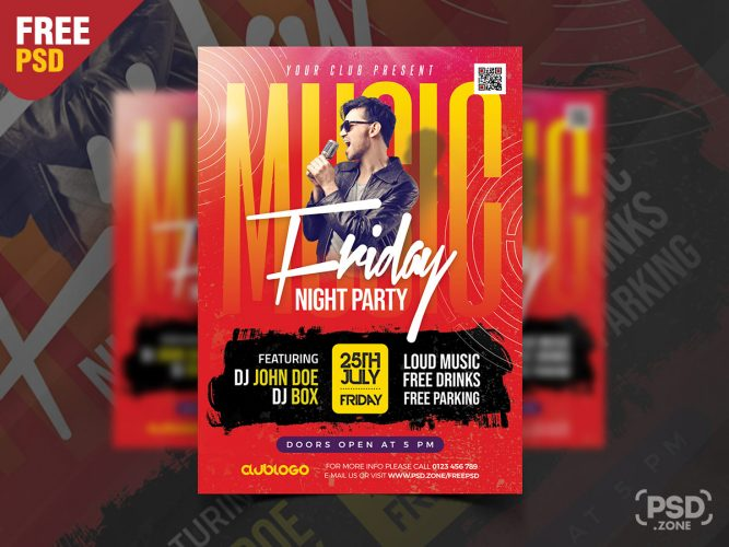Night Club Friday Party Flyer Template Design
