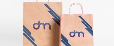Shopping Paper Bag Mockup Template