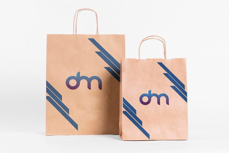 Shopping Paper Bag Mockup Template