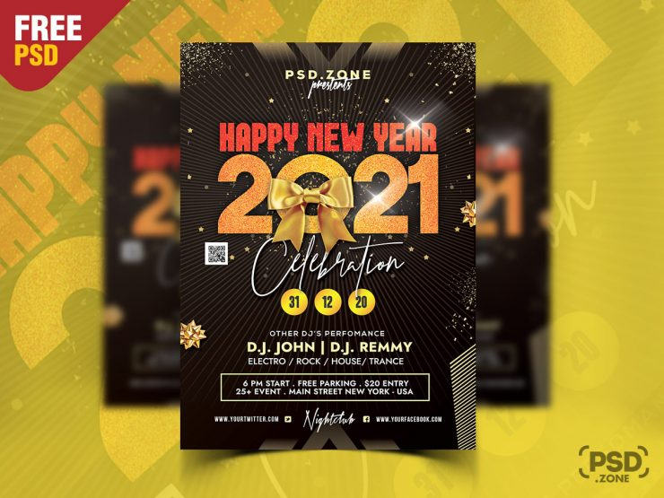 2021 New Year Flyer Design Template