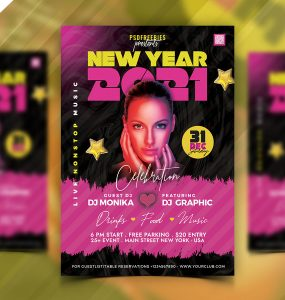 Happy New Year 2021 Party Flyer Template