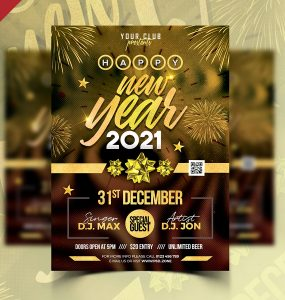 New Year 2021 Party Flyer Template