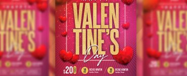 Beautiful Valentines Day Flyer Design Template