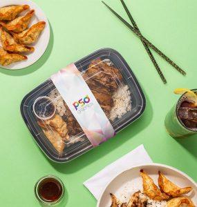 Food Box Packaging Mockup PSD