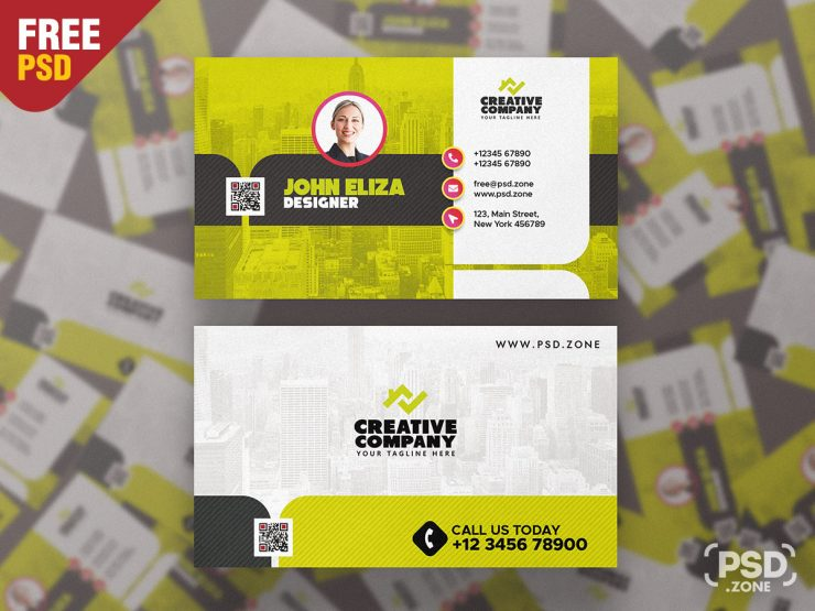 Modern Designer Business Card Template PSD