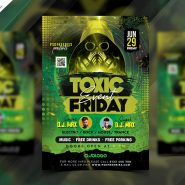 Music Event Party Flyer PSD Template