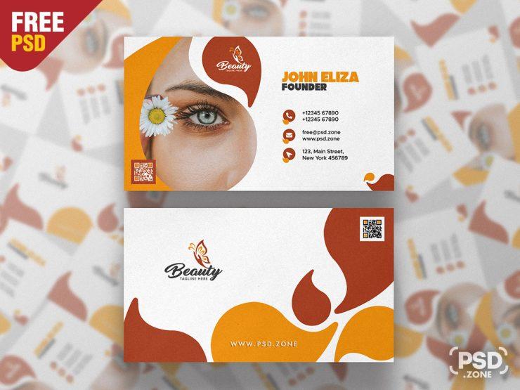Spa & Beauty Salon Business Card Template