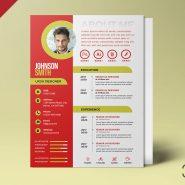 A4 Designer Resume Design Template PSD