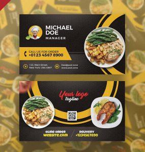 Restaurant Cafe Business Card Design Template
